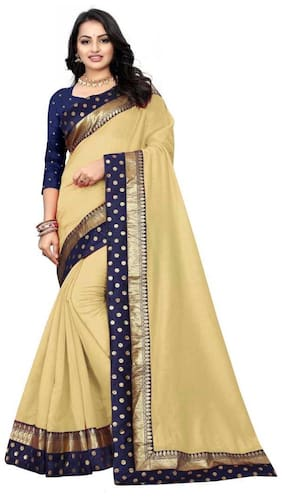 Cotton Chanderi Saree ,Pack Of 1