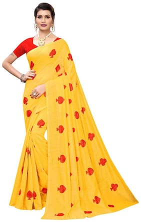 Cotton;Cotton Blend Chanderi Saree