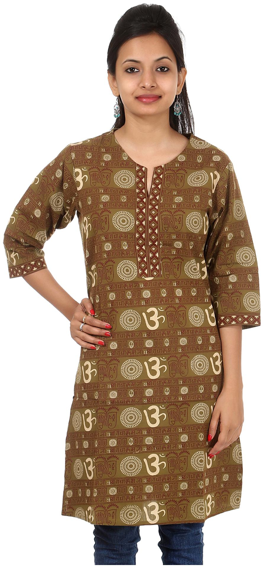 Rajrang Women Green Printed Kurta