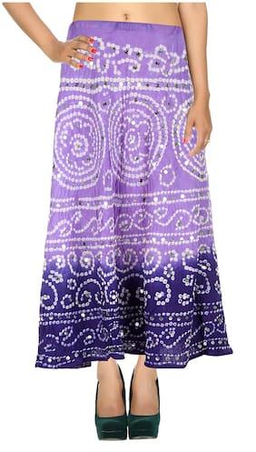 Rajrang Printed Skirt - Purple
