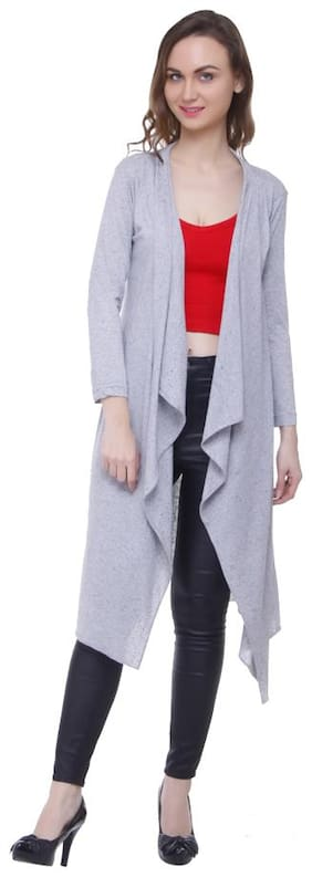 Rane women solid casual nd party wear cotton shrug
