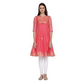 Rangmanch by Pantaloons Women Regular Fit Chanderi Kurta