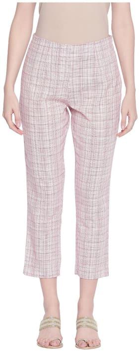 Women Checked Regular Pants