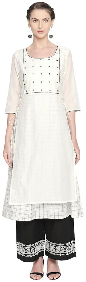 Women Solid Layered Kurta