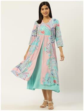 Rangmayee Women Multi Floral Printed A-Line Dress