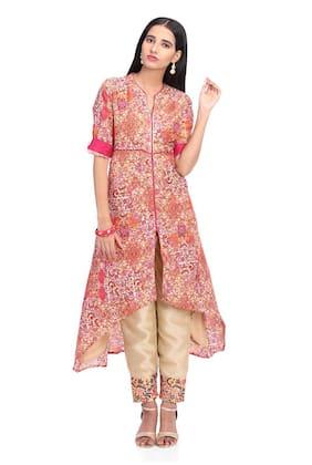 c124dd9c0fb Rangriti Viscose Printed Suit Set Multi
