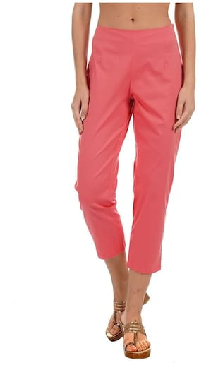 Women Solid Cropped Pants