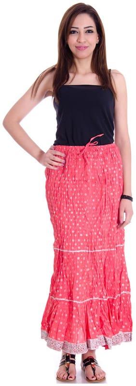 Rangsthali Cotton Designer Lace Work Long Skirt