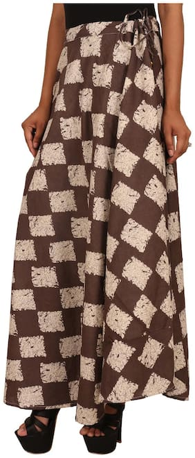 Rangsthali Cotton Printed Ethnic long Skirt for women (Free Size) Waistband: lace