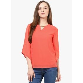 RARE Coral Red Top