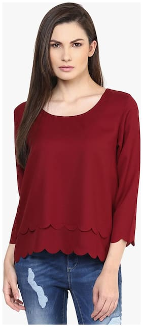 Rare Women Solid Regular top - Red