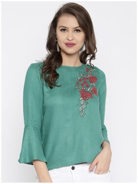 RARE Teal Green Embroidered Top