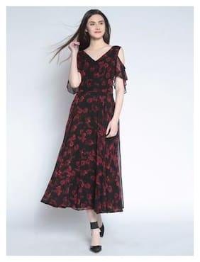 5b75e0f0bd0 Rare Cotton Printed Maxi Dress Black