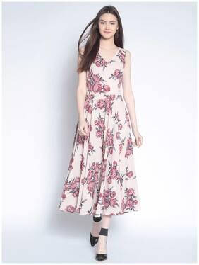 Rare Beige Printed Maxi dress