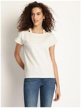 Rare Women Linen Solid - A-line Top White