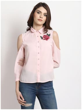 Rare Women Pink Embroidered Top