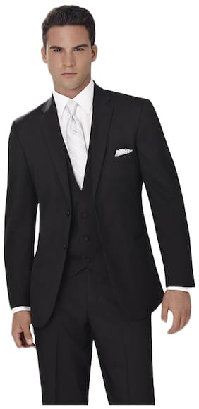 Raymond Black Plain Unstitched Suit Length