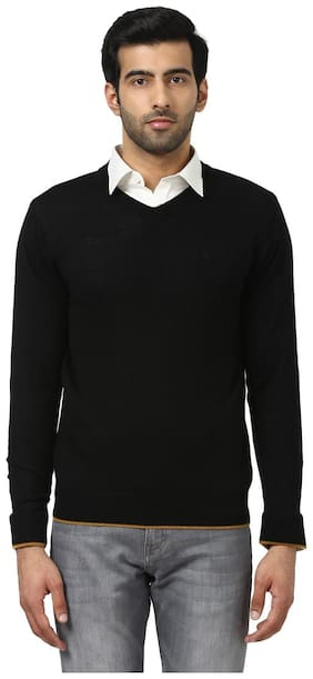 Men Wool Blend Full Sleeves Sweater