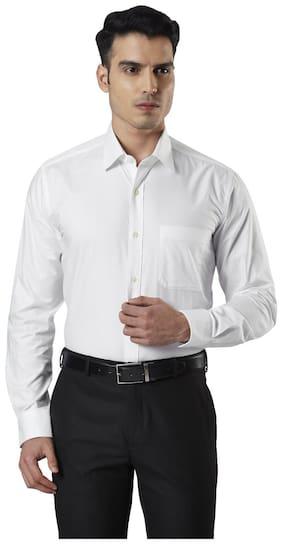 Men Regular Fit Self Design Formal Shirt