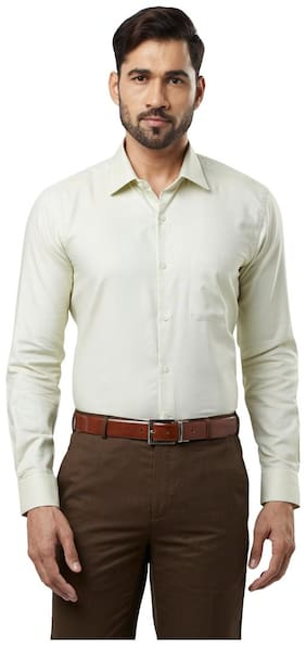 Raymond Men Regular Fit Formal Shirt - Green