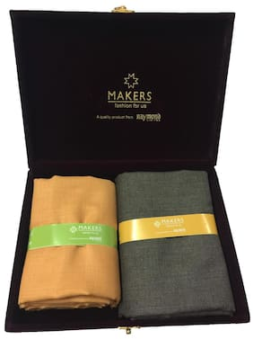 Raymond Makers Unstitched Fabric for Shirt & Trouser Combo in Velvet Box