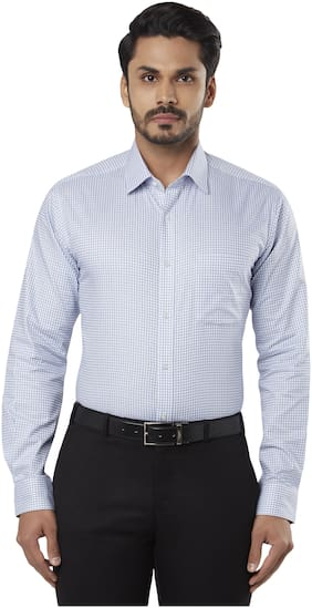 Men Slim Fit Checked Formal Shirt ,Pack Of Pack Of 1