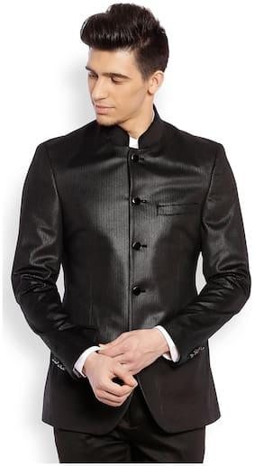 Raymond Men Polyester Regular fit Blazer - Black