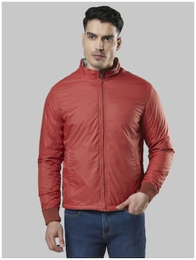 Men Polyester Long Sleeves Bomber Jacket