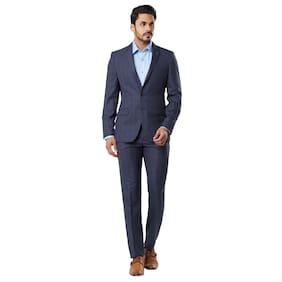Raymond Men Polyester Slim Fit Suit - Blue