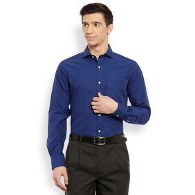 Raymond Men Dark Blue Slim Fit Cotton Shirt