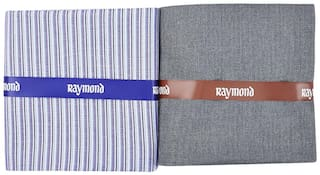 Raymond Men Cotton blend Suiting - Grey