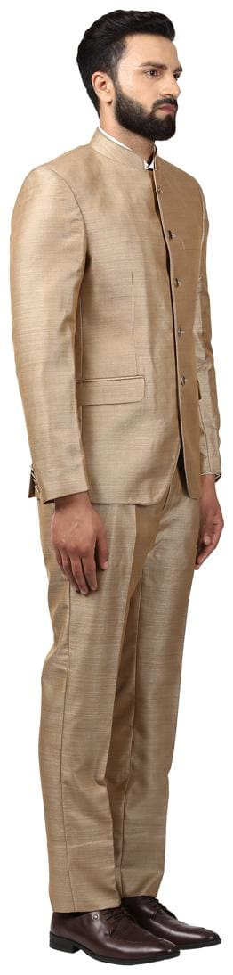 Raymond Polyester Blend Brown Regualr Fit Suits