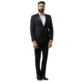 Raymond Men Polyester Regular Fit Suit - Black