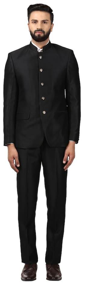 Raymond Men Rayon Regular Fit Suit - Black