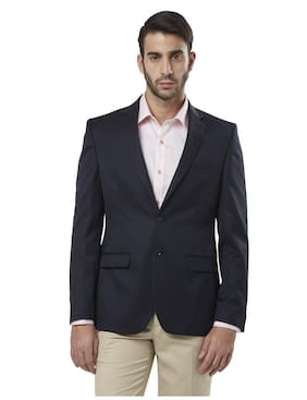 Raymond Men Polyester Slim fit Blazer - Blue