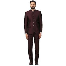 Raymond Men Rayon Regular Fit Suit - Maroon