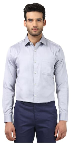 Raymond Men Slim Fit Formal Shirt - Grey