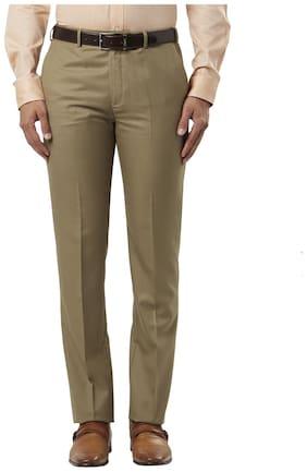Raymond Men Regular Fit ( Regular Fit ) Formal Trouser - Brown