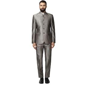 Raymond Men Polyester Regular Fit Suit - Brown