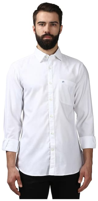 Raymond Men Slim fit Casual shirt - White