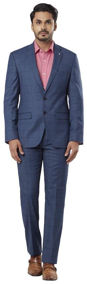 Raymond Men Rayon Regular Fit Suit - Blue