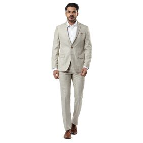Raymond Men Polyester Slim Fit Suit - Brown