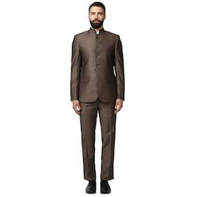 Raymond Men Rayon Regular Fit Suit - Brown