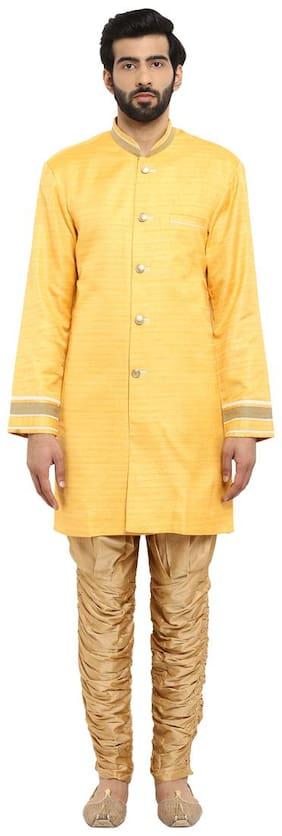 Raymond Yellow Regular Fit Polyester Kurta