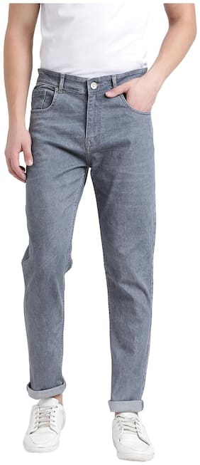 REALM Men Mid rise Slim fit Jeans - Grey