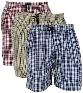 Men Checked Regular Shorts Pack Of 2