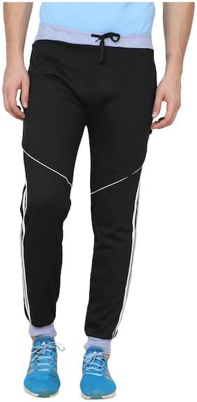 REC SWAGGY Men Cotton blend Track Pants - Black