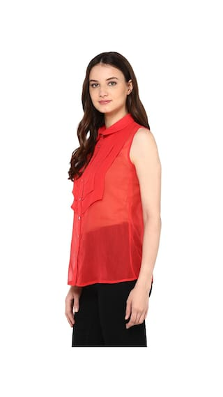 The Red Classic Shirt Collar Will High Low Slim Vanca ppTnqr