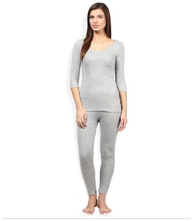 Red Fort Women Thermal Grey Full Sleeve Set 1 pcs Pack
