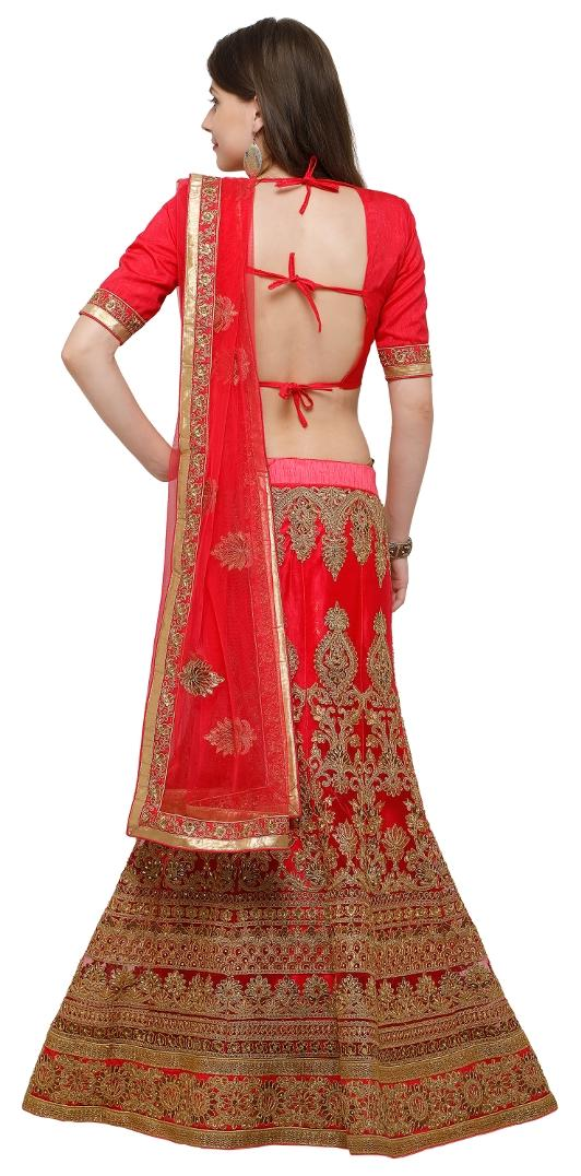 2a4f59e124 Buy Aasvaa Net Printed A-line Lehenga Choli - Multi Online at Low Prices in  India - Paytmmall.com